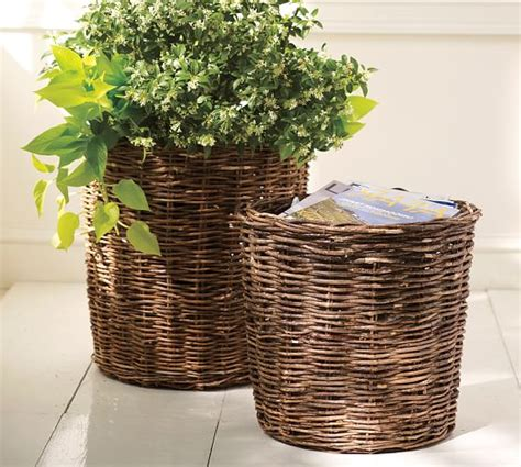 pottery barn planters garden planter baskets pottery barn
