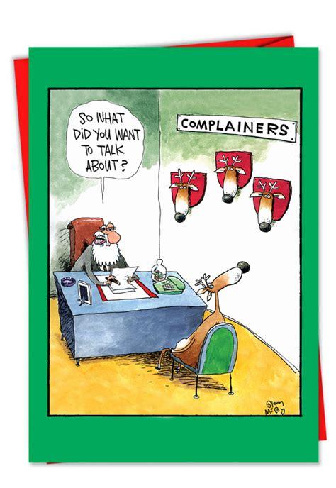 santa complaints funny christmas card nobleworkscardscom