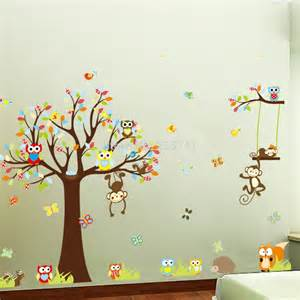 buy wall stickers aliexpress com buy wall stickers monkey tree owl wall