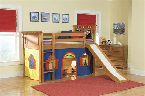 slide in bedroom bunk bed with slide kids furniture ideas