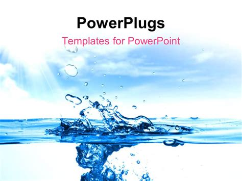 Powerpoint Template Close Up Shot Of A Water Drops 30827 Water Powerpoint Template
