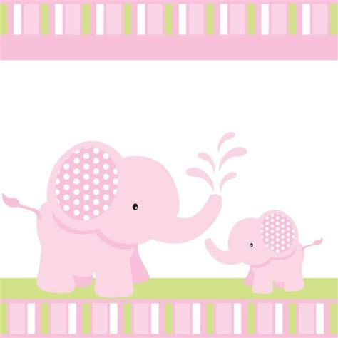 Pink Elephant Baby Shower Or Birthday Custom Printable Party Package Baby Shower Themes Baby Shower Elephant Template