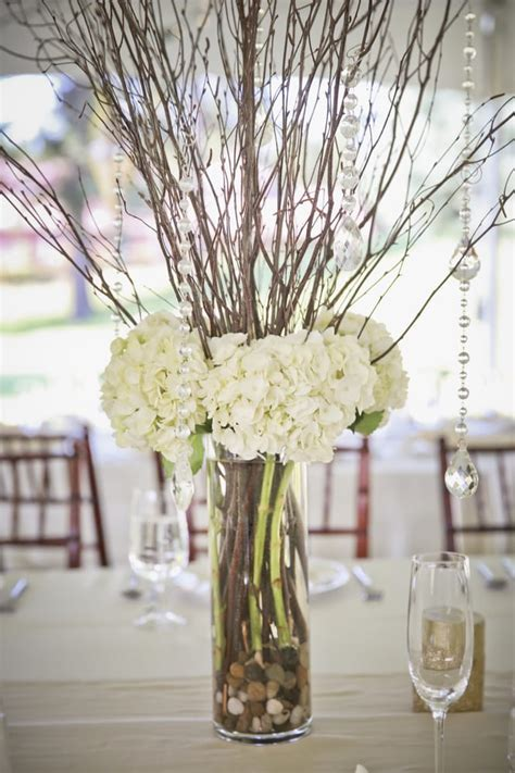 Cylinder Vases Centerpieces Weddings by Wedding Centerpiece Cylinder Vase With White Hydrangea