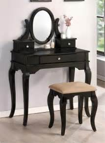 black makeup vanity table feeling homey