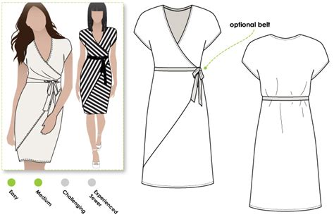 clothes pattern definition stylearc tia knit wrap dress