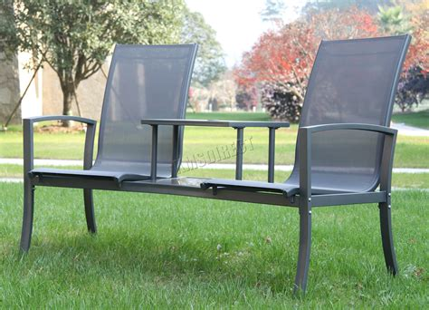 Patio Table Ls Foxhunter Outdoor Garden Seat Chair Patio Duo Companion Glass Table Ls01 Ebay