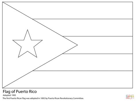 Flag Of Puerto Rico For Coloring Pages Countries Central America Caribbean Flags Coloring Pages
