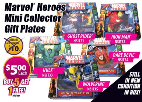 Marvel Heroes Gift Card - ghost rider marvel heroes mini collector gift plate cardsone