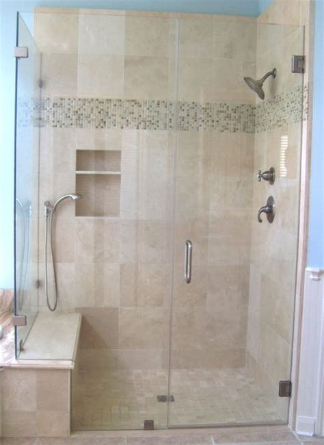 Frameless Shower Enclosure Traditional Bathroom Bathroom Shower Door