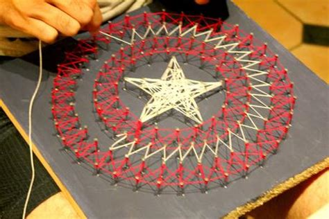 String Circle Pattern - diy captain america string paperblog