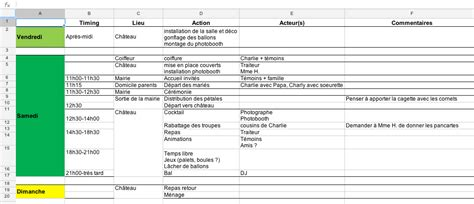 Calendrier Budget Mariage Modele Planning Mariage Ccmr