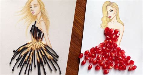 fashion illustration uses fashion designer creates mesmerizing dress designs using