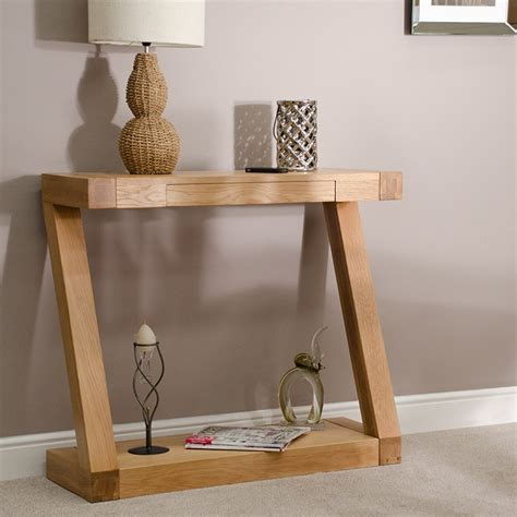z solid oak designer console hall table furniture4yourhome