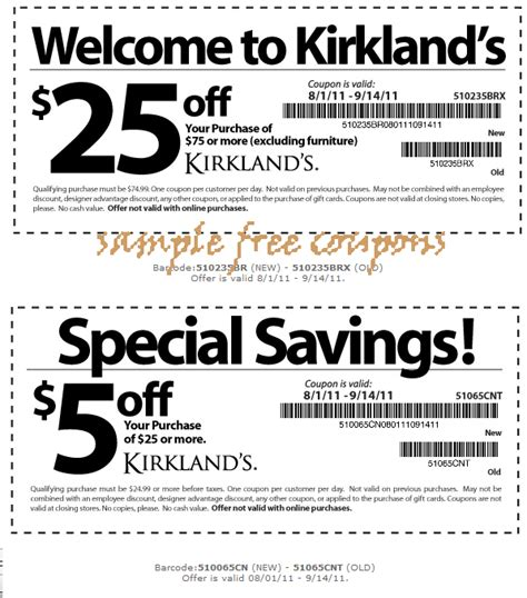 Printable Coupons Kirklands Coupons | 10 off 50 purchase this is new expired on june 30 2014