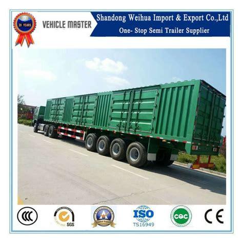china china ton  axles van type cargo semi trailer