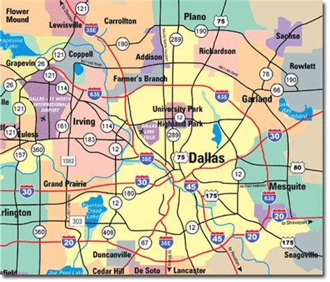 road map of dallas texas dallas map free printable maps