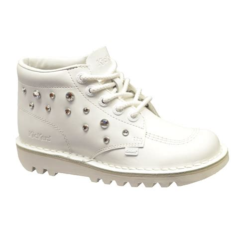 kickers shoes kickers kickers kick hi leather white c3