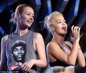 While Rehearsing For The Vmas by Ora Joins Forces With Iggy Azalea For Mtv Vma