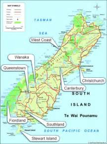 Car Hire Nz South Island South Island Map