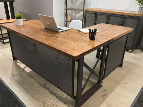 custom l shaped desk stylish desks with industrial designs and details