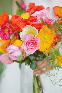 Spotlight Chandelier Poppy Bridal Bouquet Spring Floral Inspiration 100