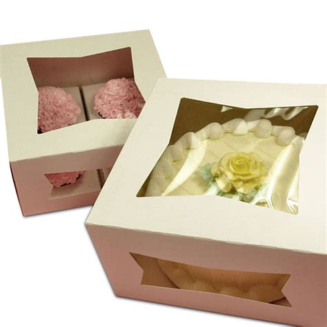 new year cake packaging front load cake boxes with window