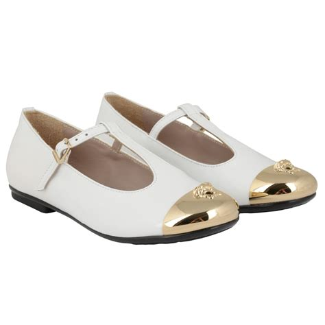 versace white leather shoes with buckle