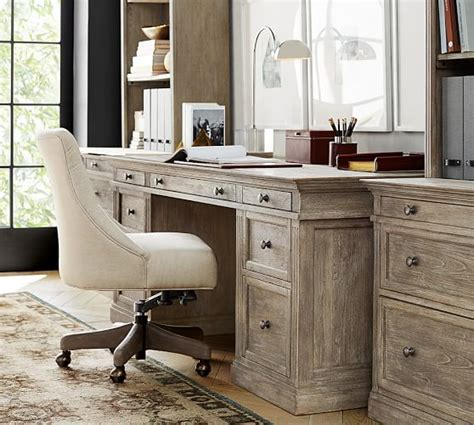 pottery barn office furniture livingston large desk pottery barn