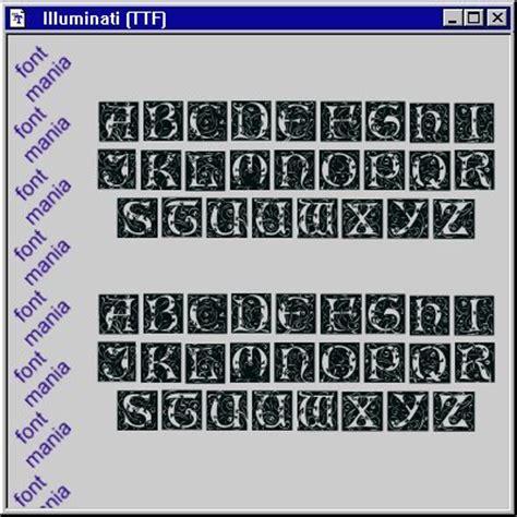 illuminati font font mania true type fonts illuminati font card