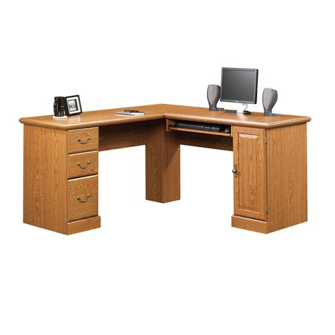 lowes computer desk shop sauder orchard carolina oak computer desk at lowes