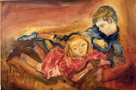 painting to play children 1909 oskar kokoschka wikiart org