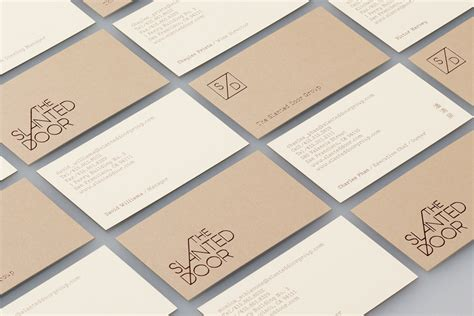 id card design manual new brand identity for the slanted door by manual bp o