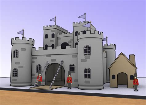 How To Make A Paper Castle - castle models out of cardboard images