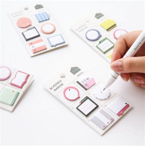 Treeinart Schedule Marker Post Its aliexpress buy fresh style schedule marker self adhesive memo pad sticky notes post it