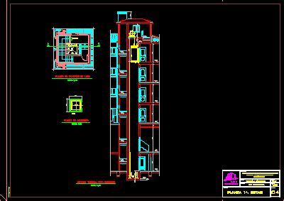 elevator detail dwg section  autocad designs cad