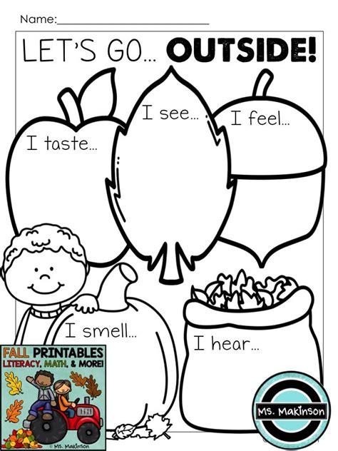 fall printables literacy math science kindergarten