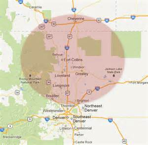 map of fort collins colorado area contact us fort collins landscaping company
