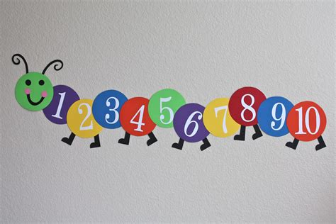 counting caterpillar honest to nod - Preschool Wall Decoration