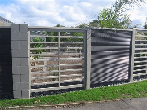 metal fence gateworx wood and metal fences gallery auckland