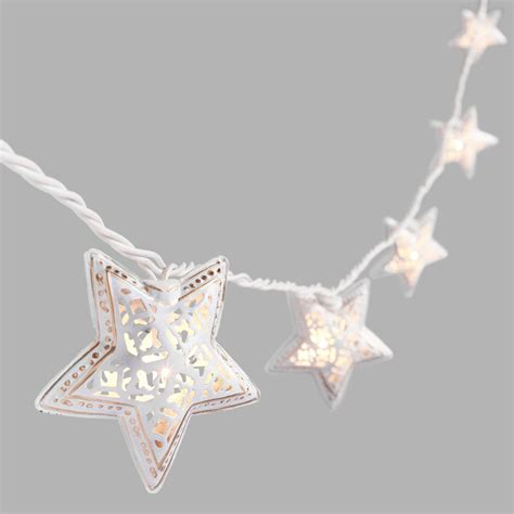 Ivory Filigree Star 10 Bulb String Lights World Market Market String Lights
