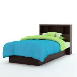 south shore libra platform bed bookcase headboard