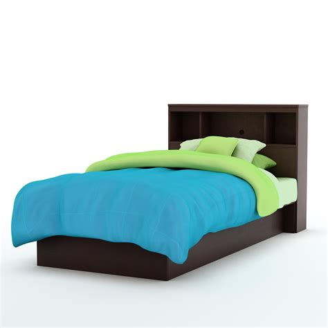platform twin bed south shore libra twin platform bed bookcase headboard by oj commerce 3159tbkbr