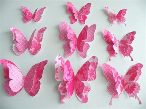 Paper Butterfly Decorations by Wall Decor Ideas With Paper Recycled Things