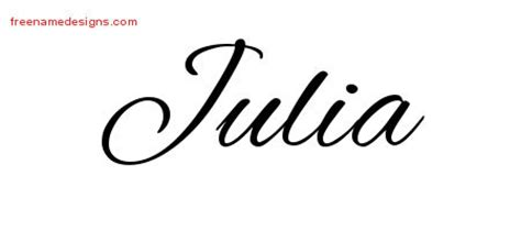 tattoo name julia julia archives free name designs