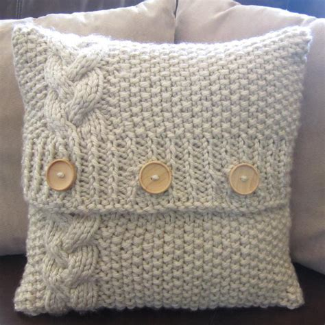 Knit Pillow Pattern by Chunky Knit Cushion Cover Cable Knit Pillow Cover
