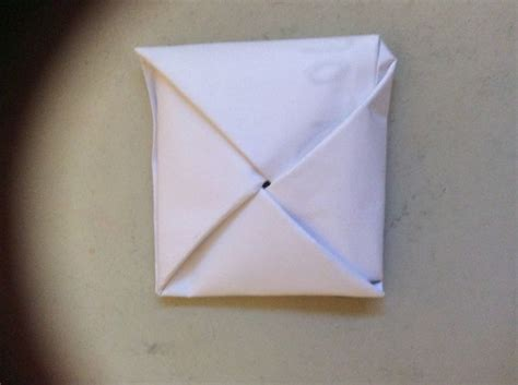 Folding Paper - how to fold paper into a secret note square 10 steps