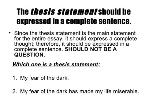 what goes in a thesis statement where should my thesis statement go 28 images where