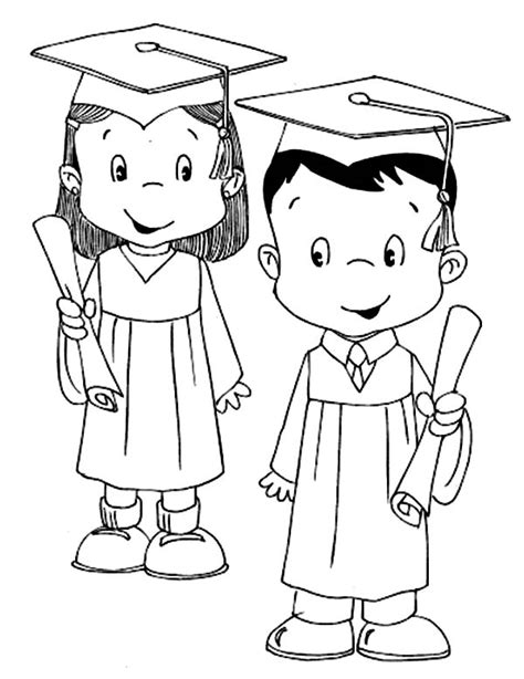 coloring pages for preschool graduation graduation cap coloring page coloring home