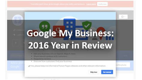 google design review google my business 2016 year in review theehouston agency