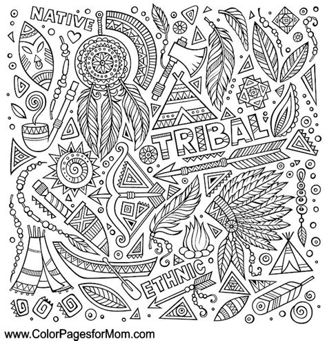 free coloring pages of adult native american